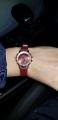 Часы наручные цвет бордовый
