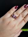 Кольцо с аметитстом