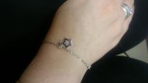 Милый серебряный браслетик