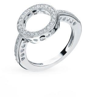 Серебряное кольцо с фианитами SUNLIGHT: белое серебро 925 пробы, фианит — купить в интернет-магазине Санлайт, фото, артикул 92806