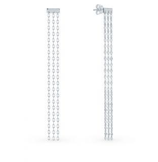 Серебряные серьги SUNLIGHT: белое серебро 925 пробы — купить в интернет-магазине Санлайт, фото, артикул 89357