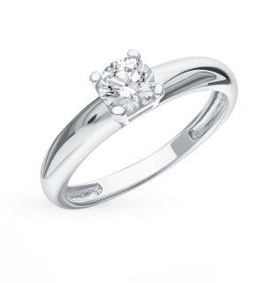 Серебряное кольцо с фианитами EFREMOV 1010013834-501: белое серебро 925 пробы, фианит — купить в интернет-магазине SUNLIGHT, фото, артикул 122084