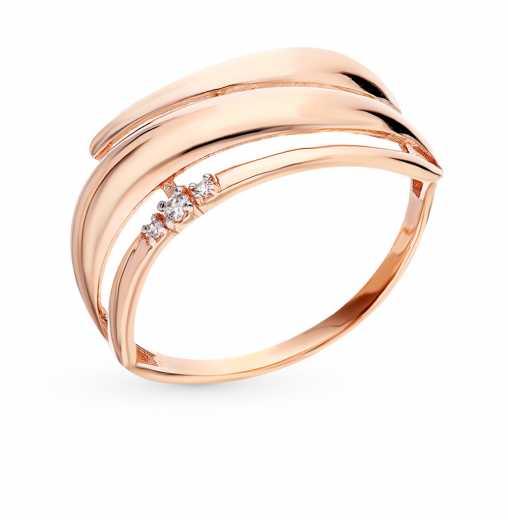 Женские золотые кольца без вставок — купить недорого в интернет ... 6490afb7f75