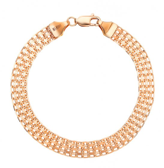 Золотой браслет НБ 12-073 0,35   красное и розовое золото 585 пробы ... 858ff4aa5c2