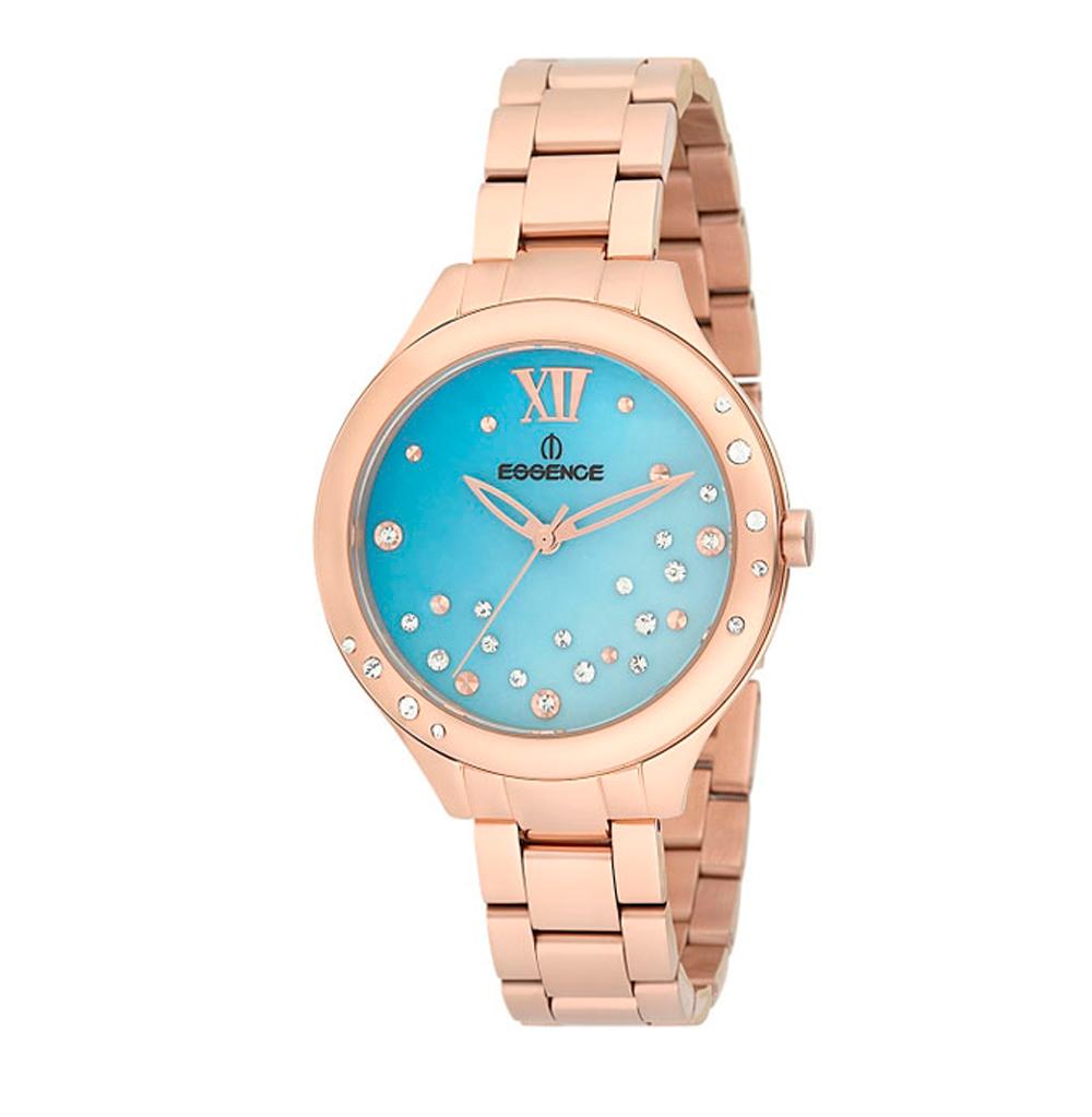 Женские часы ES6395FE.420 на стальном браслете с розовым PVD покрытием с минеральным стеклом
