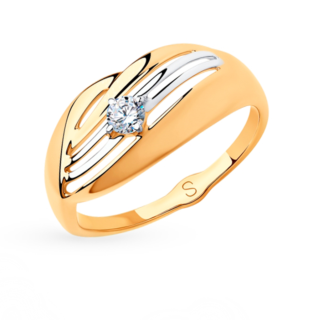 Золотое кольцо с фианитами SOKOLOV 018179 в Екатеринбурге