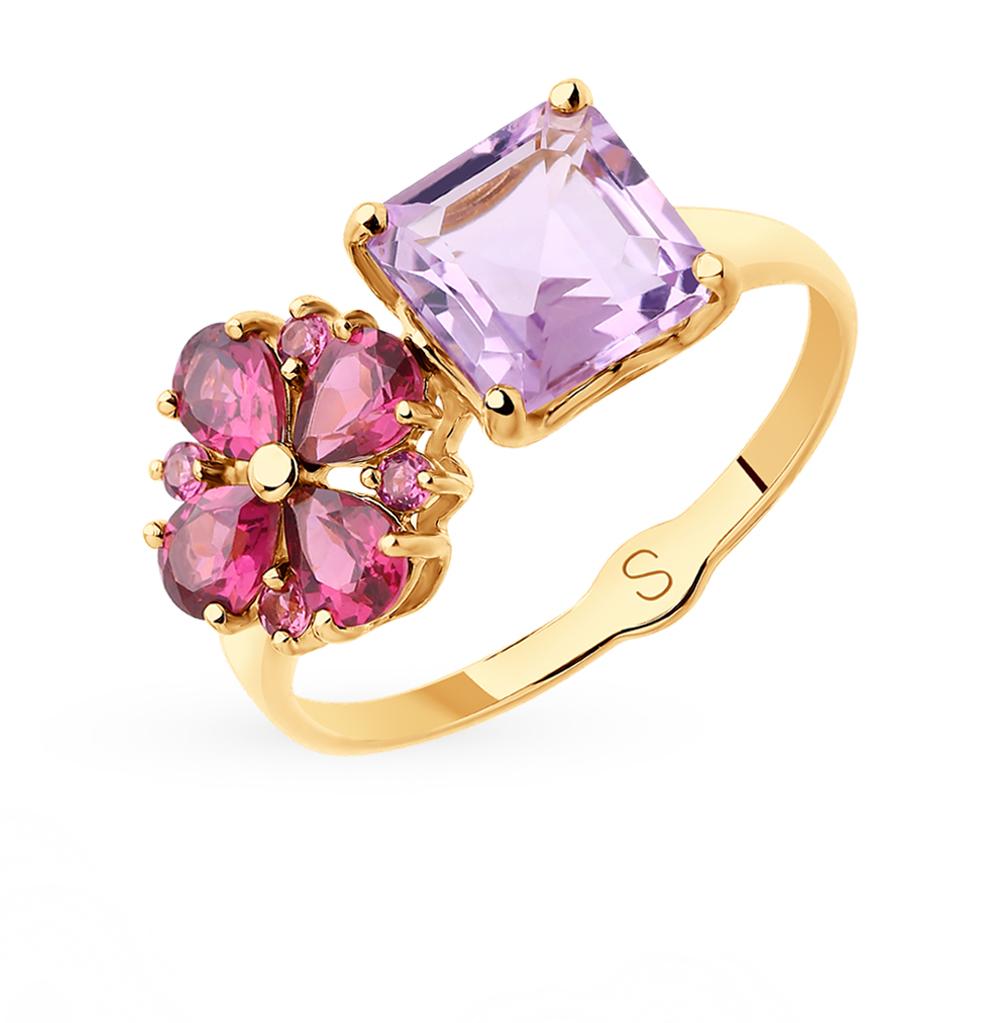 Золотое кольцо с аметистом SOKOLOV 715363* в Екатеринбурге