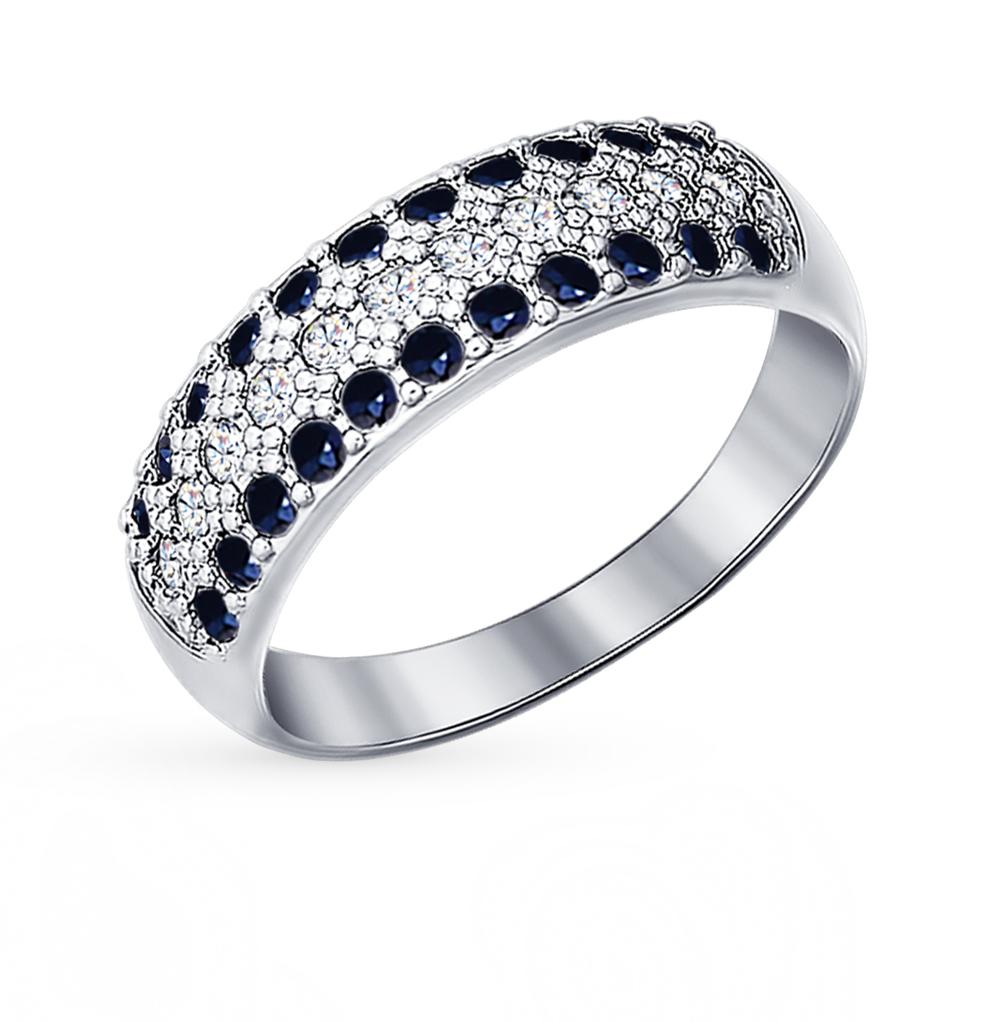 серебряное кольцо с фианитами SOKOLOV 94010064