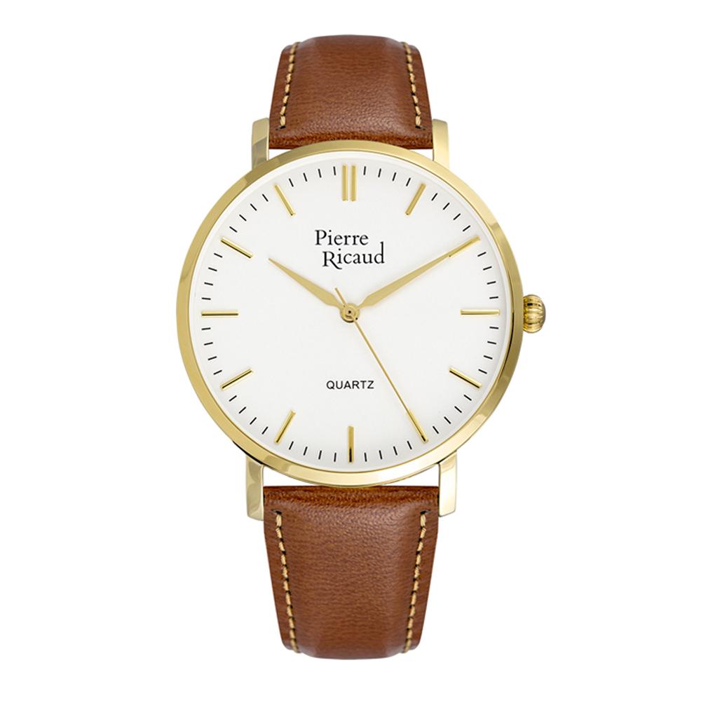 Мужские часы P91074.1B13Q на кожаном ремешке с минеральным стеклом