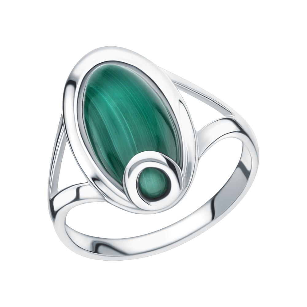 Серебряное кольцо с малахитом в Екатеринбурге