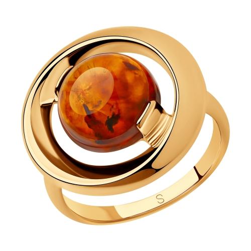 Серебряное кольцо с янтарем SOKOLOV 83010057 в Екатеринбурге