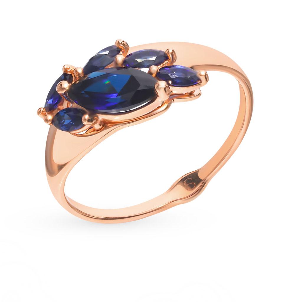 Фото «Золотое кольцо с корундом SOKOLOV 715201*»