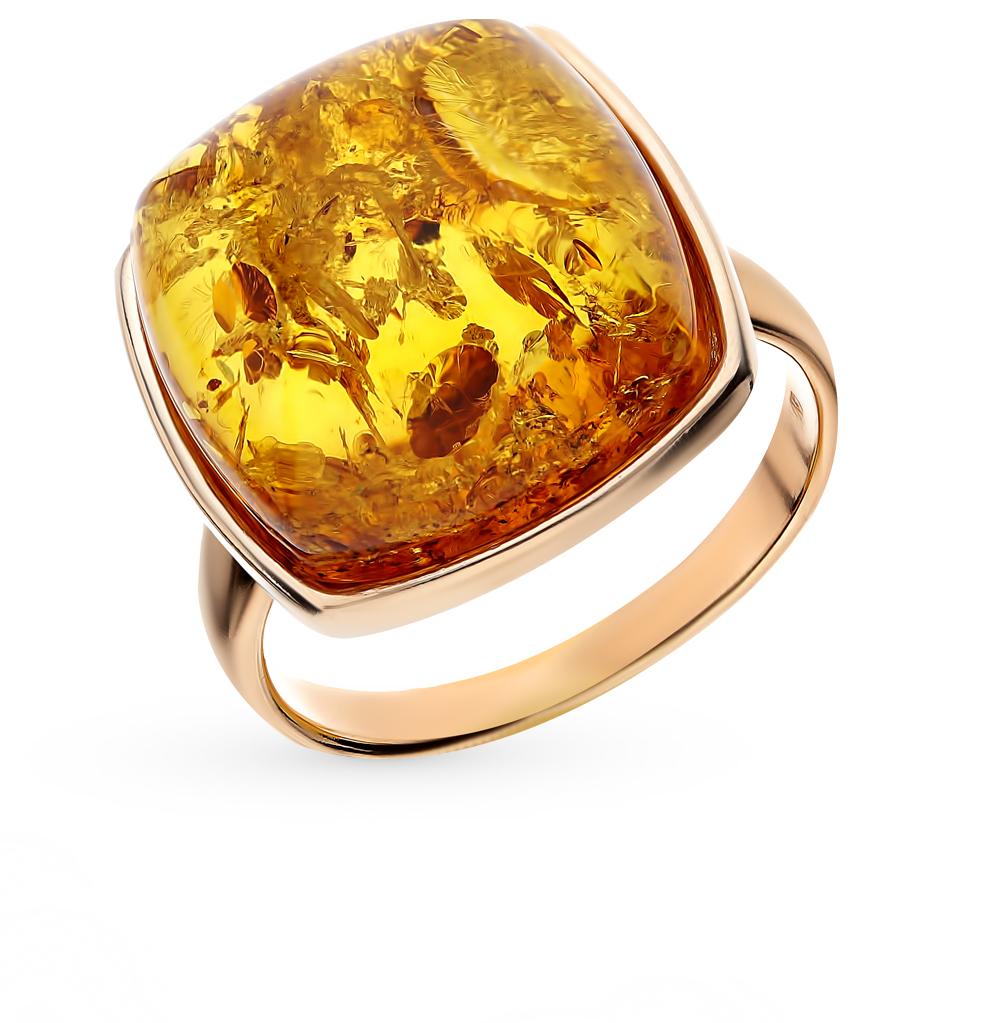 Серебряное кольцо с янтарем в Екатеринбурге