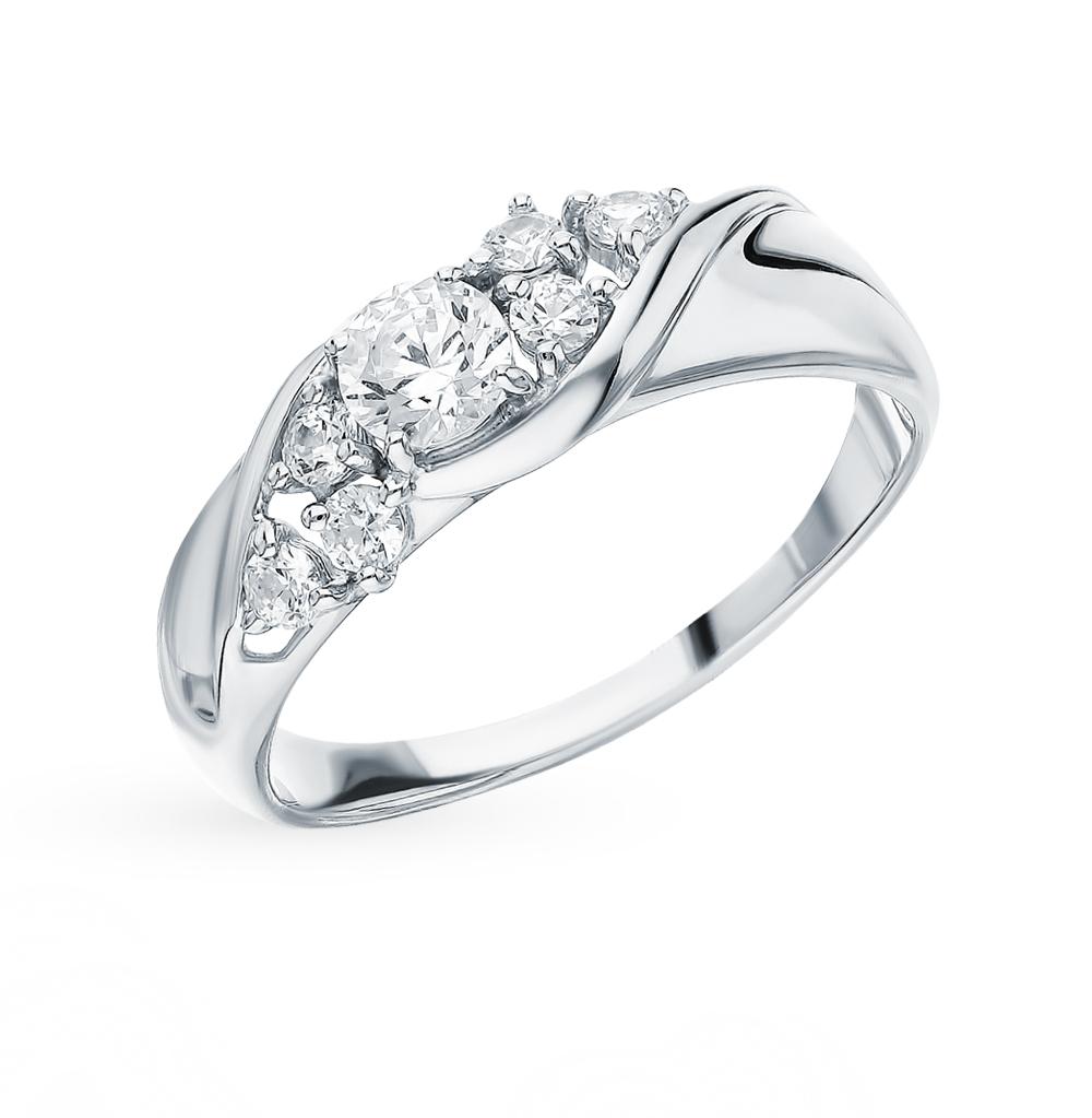 Фото «Золотое кольцо с фианитами SOKOLOV 81010390*»