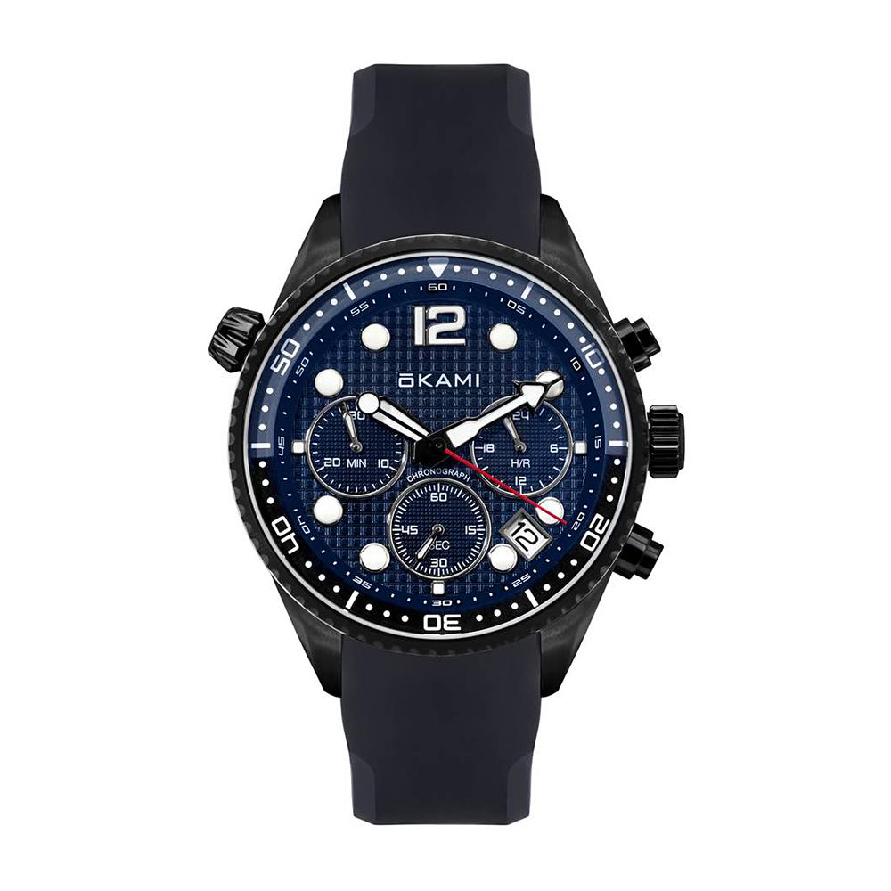 Фото «Мужские часы с хронографом на ремне из каучука»