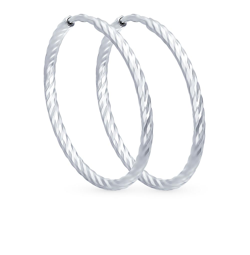 серебряные серьги SOKOLOV 94140015