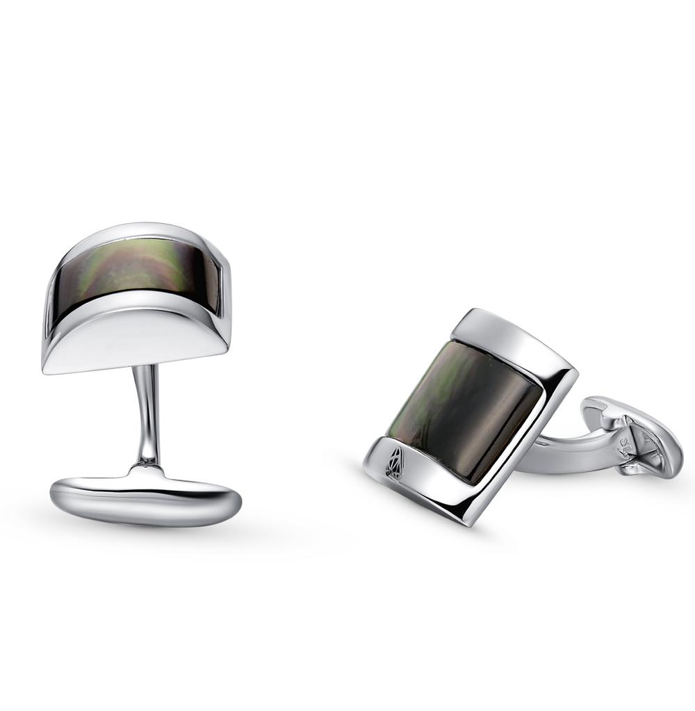 Фото «Запонки из серебра с перламутром»