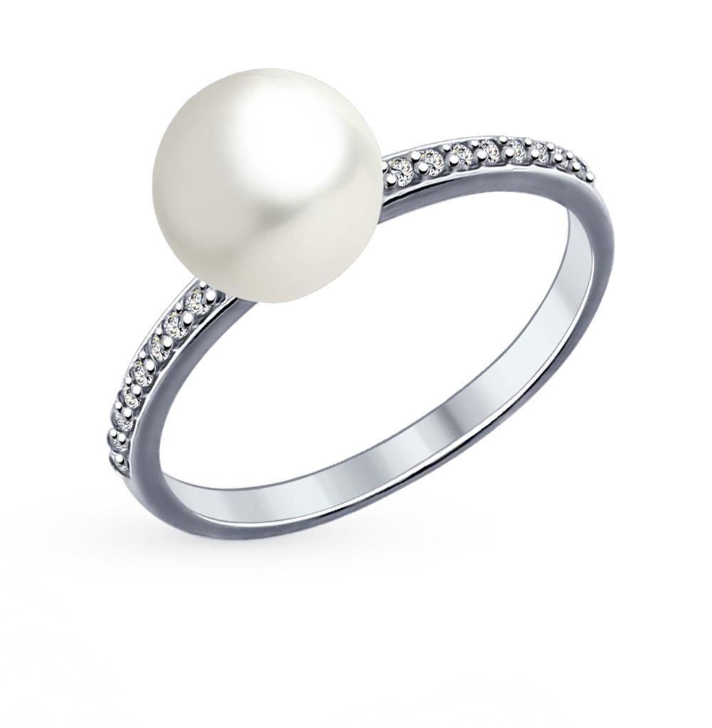 серебряное кольцо с кубическими циркониями SOKOLOV 94012034
