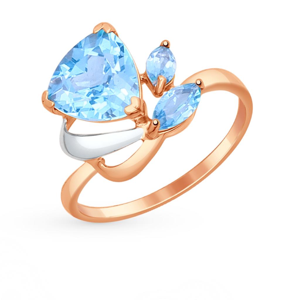 золотое кольцо с топазами SOKOLOV 714623*