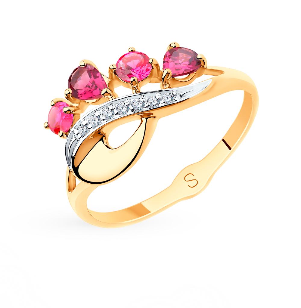 Золотое кольцо с корундом SOKOLOV 715551* в Екатеринбурге