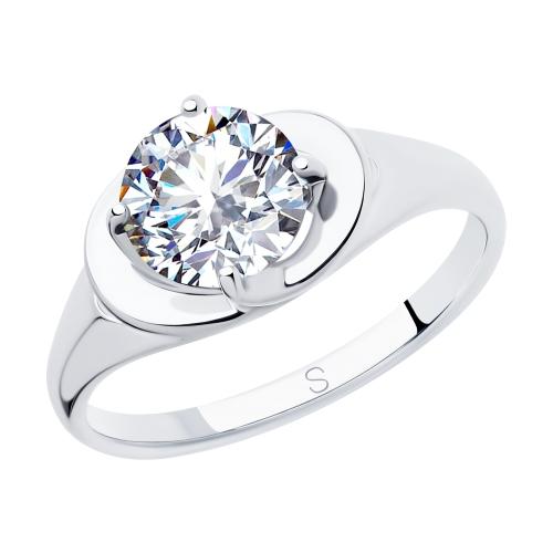 Фото «Серебряное кольцо с фианитами SOKOLOV 94012825»