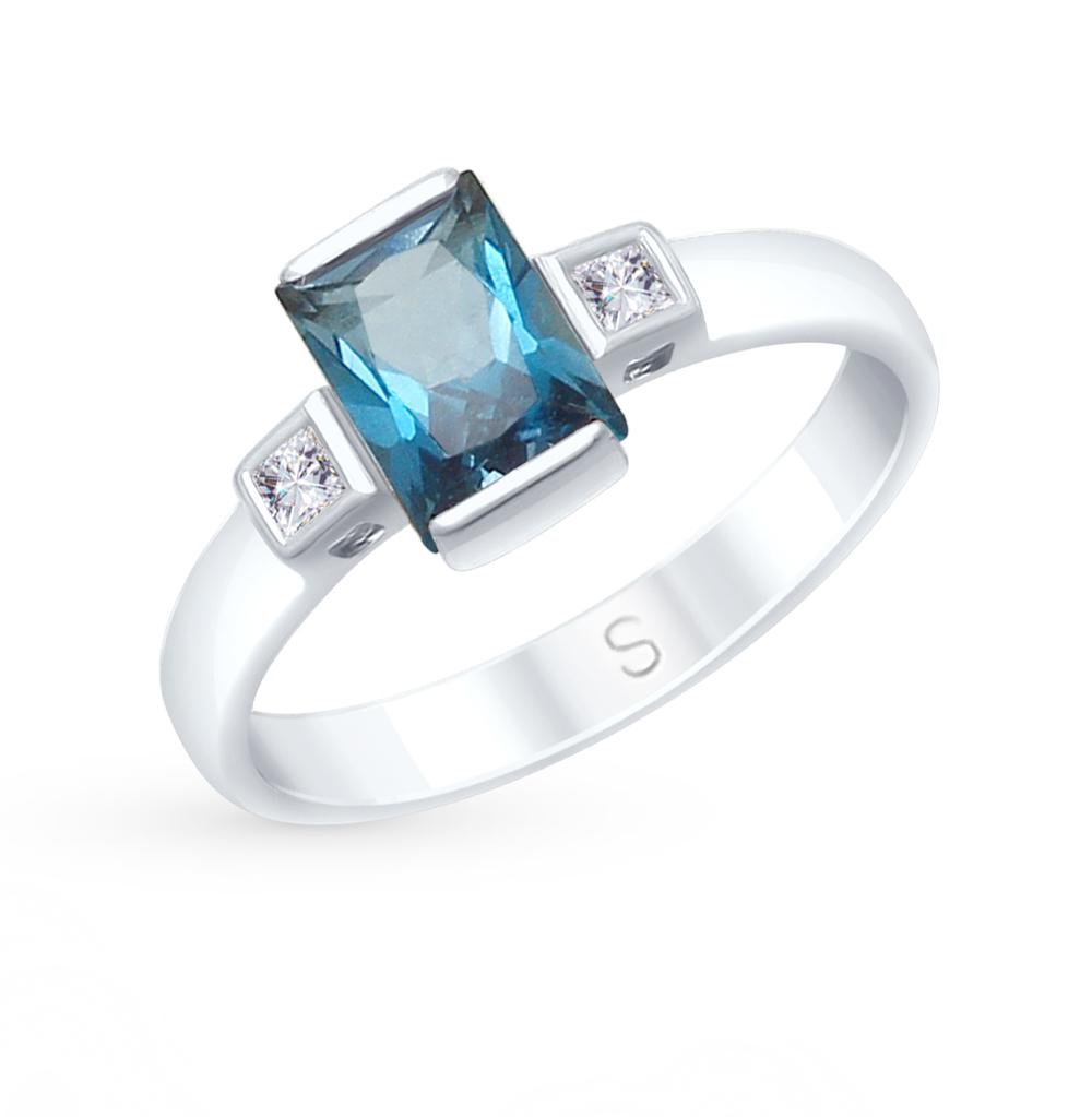 Фото «Золотое кольцо с топазами и фианитами SOKOLOV 715050*»