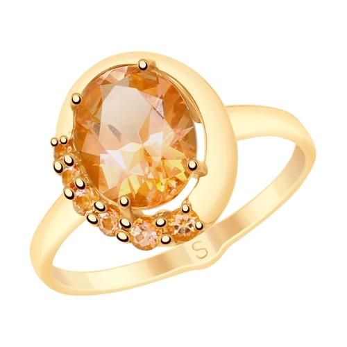 Фото «Золотое кольцо с топазами SOKOLOV 715437*»
