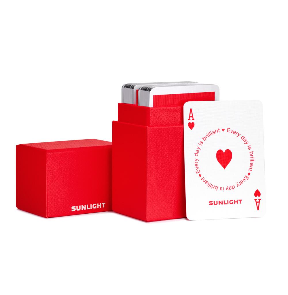 Фото «Игровые карты для покера SUNLIGHT»