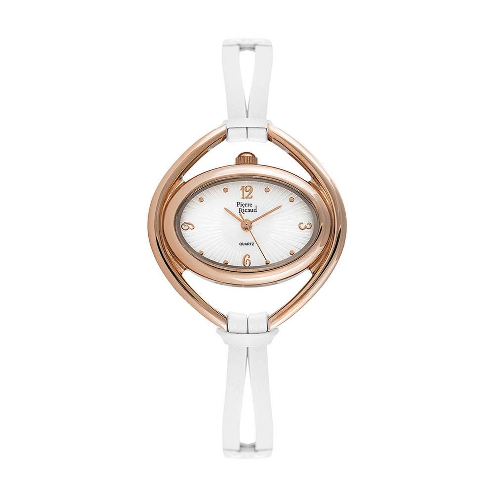 Фото «Женские кварцевые часы P22018.9773Q на кожаном ремешке с минеральным стеклом»