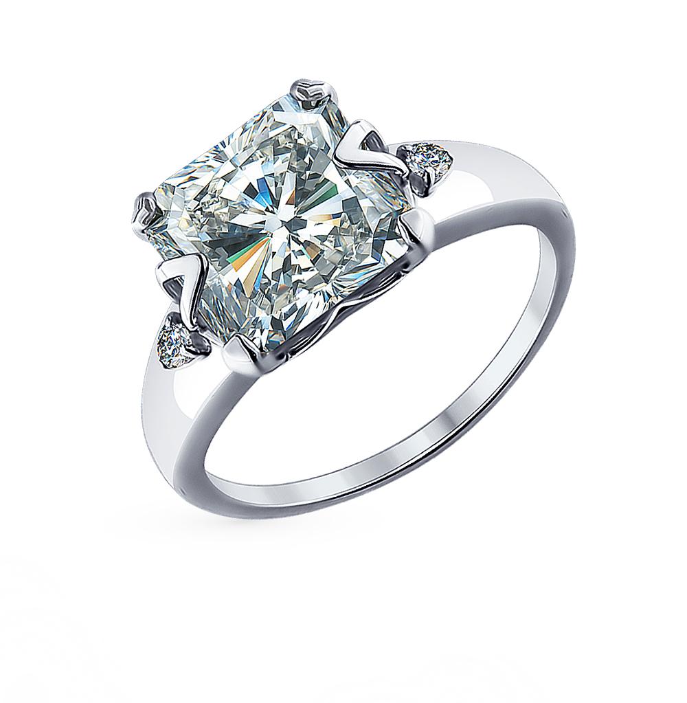 Фото «Серебряное кольцо с фианитами SOKOLOV 94012079»