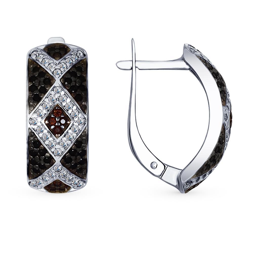 серебряные серьги с фианитами SOKOLOV 94022549