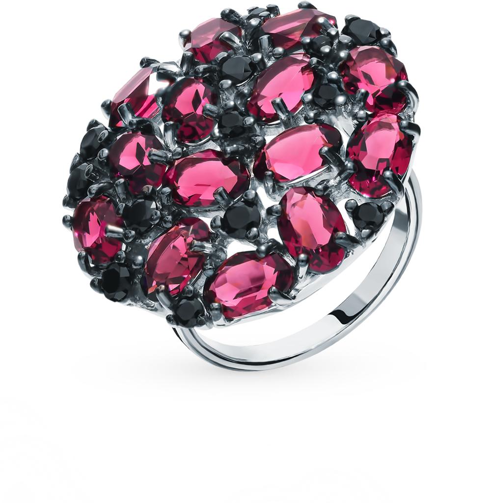 Серебряное кольцо с фианитами и кристаллами swarovski SOKOLOV 94012682 в Екатеринбурге