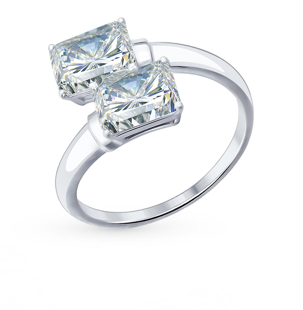 серебряное кольцо с фианитами SOKOLOV 94012075