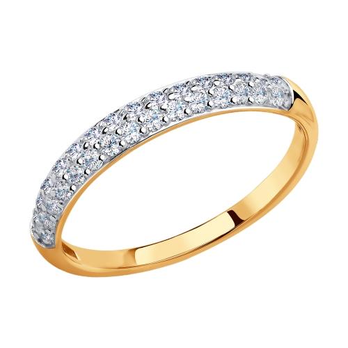 Фото «Золотое кольцо с фианитами SOKOLOV 017149*»