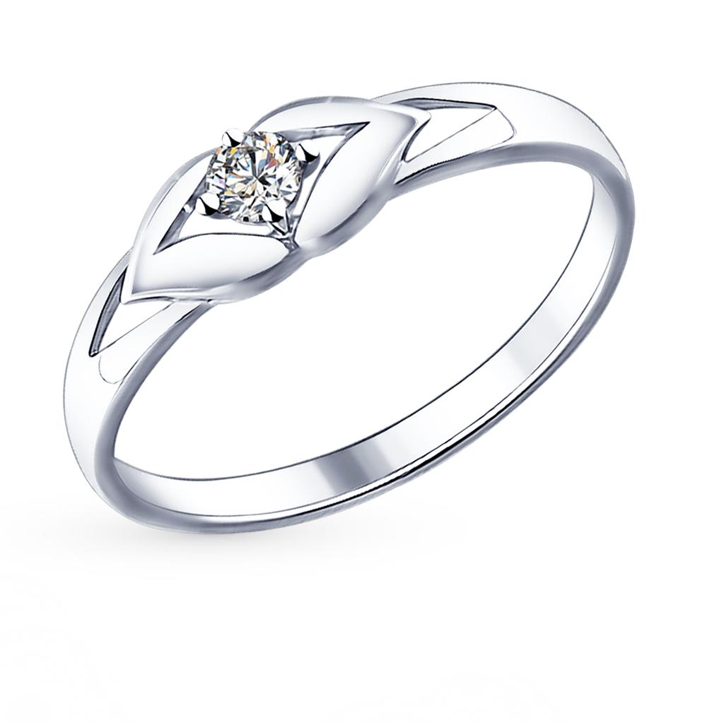 серебряное кольцо с фианитами и кубическими циркониями SOKOLOV 94011585