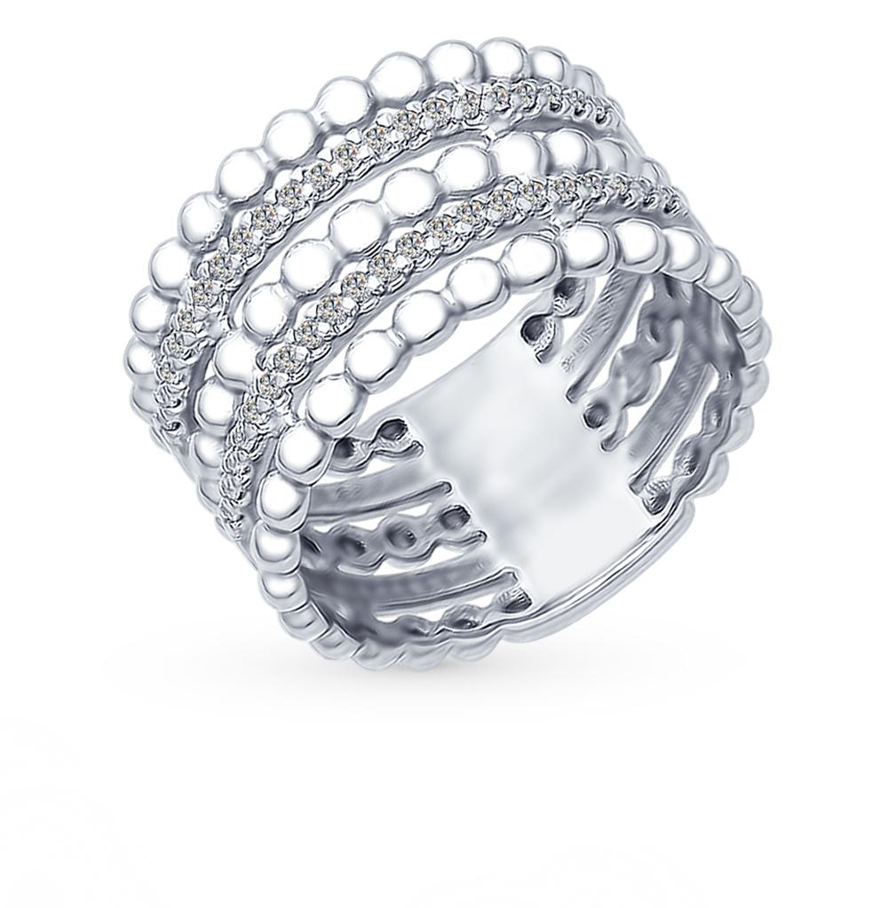 серебряное кольцо с фианитами SOKOLOV 94012379