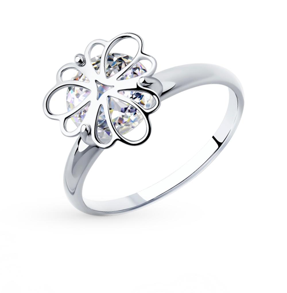 серебряное кольцо с фианитами SOKOLOV 94012987