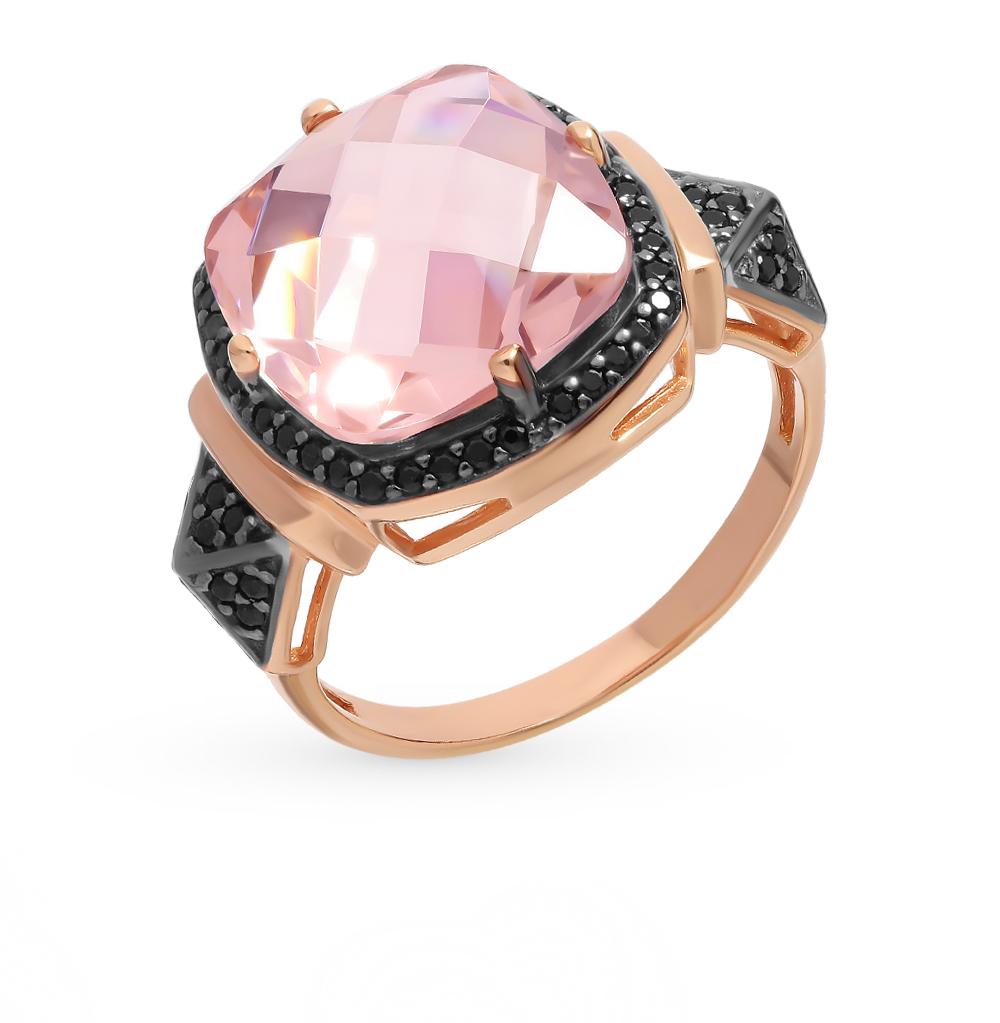 серебряное кольцо с нанокристаллами и морганитами