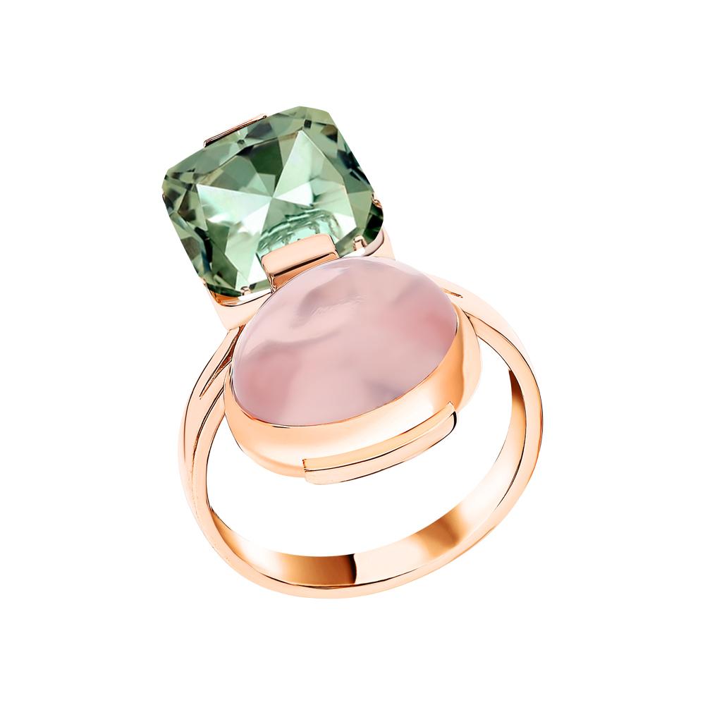 Фото «Золотое кольцо с кварцем и празиолитом»