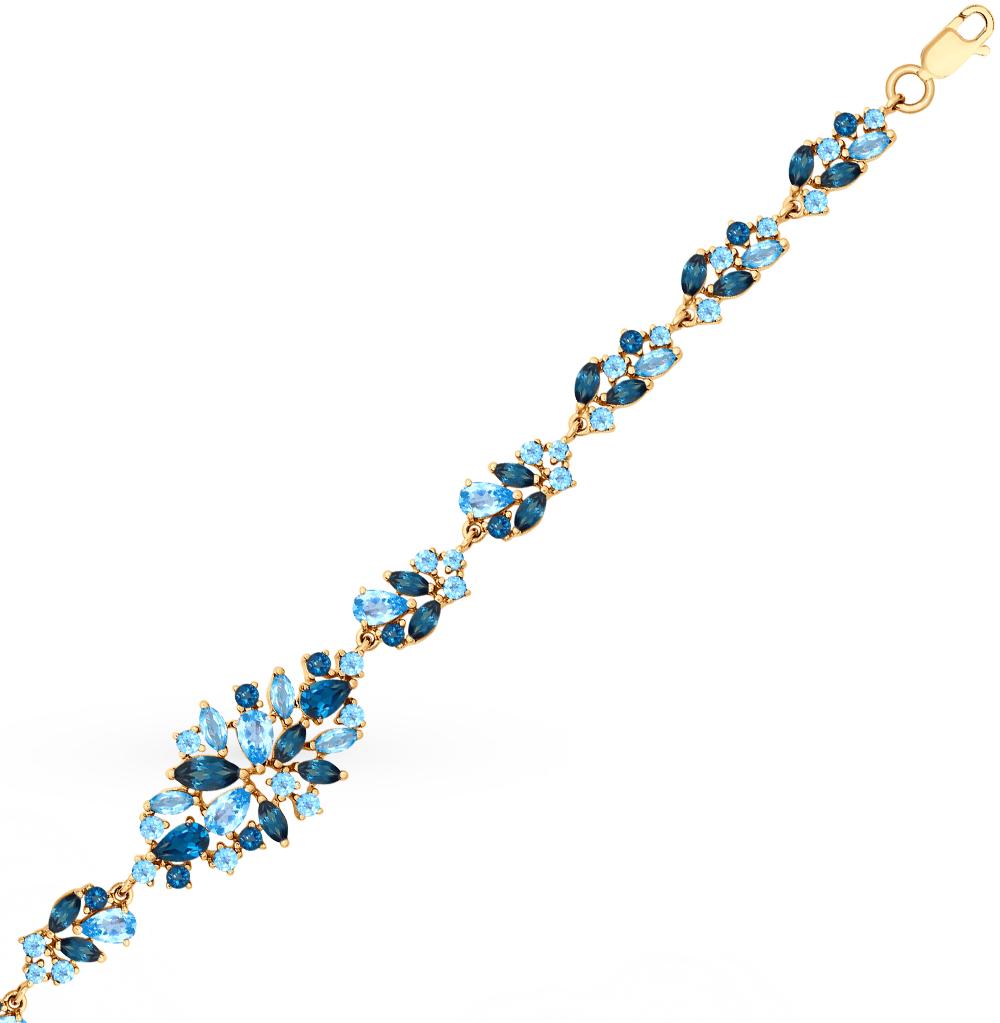 Фото «Золотой браслет с топазами SOKOLOV 750257*»