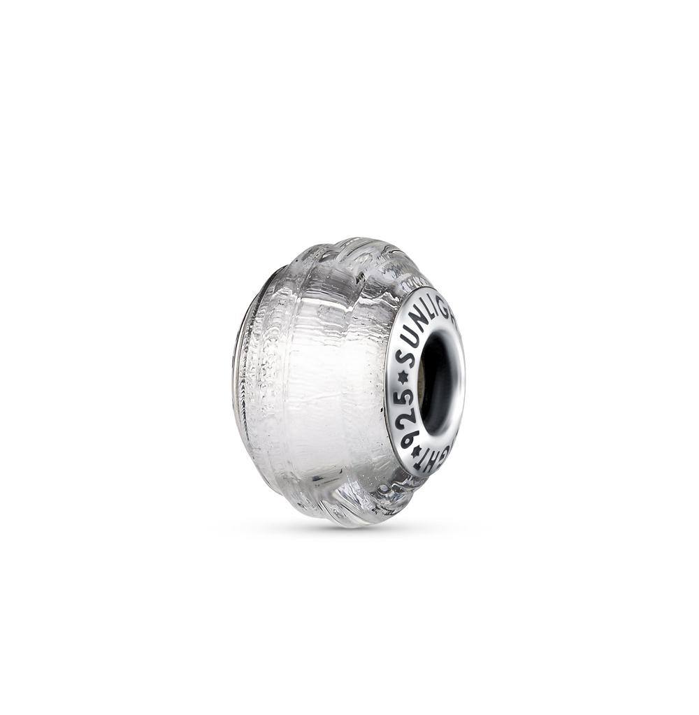 Фото «серебряная подвеска - шарм с муранскими стёклами»