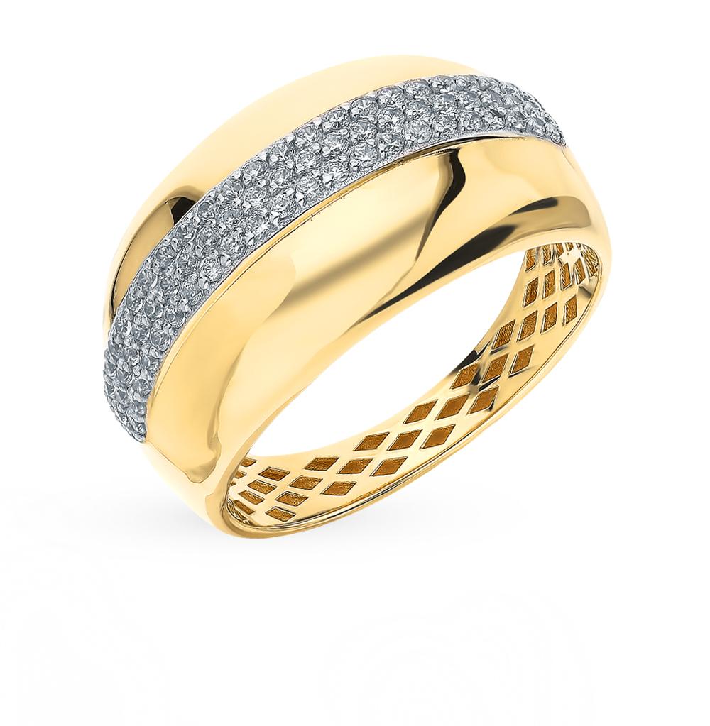 Фото «Золотое кольцо с фианитами SOKOLOV 018382-2*»