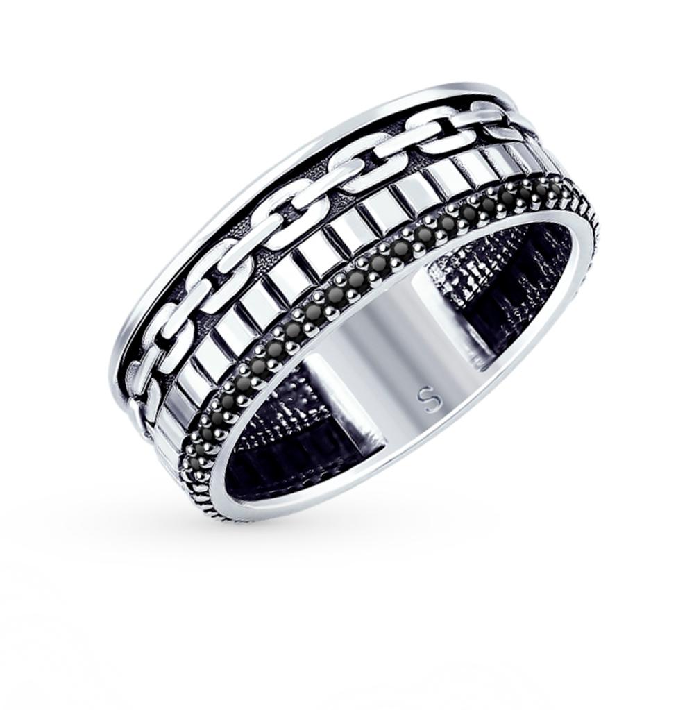 серебряное кольцо с фианитами SOKOLOV 95010121