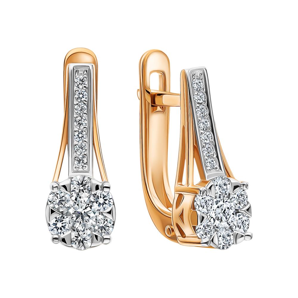Фото «Золотые серьги «Бриллианты Якутии»»