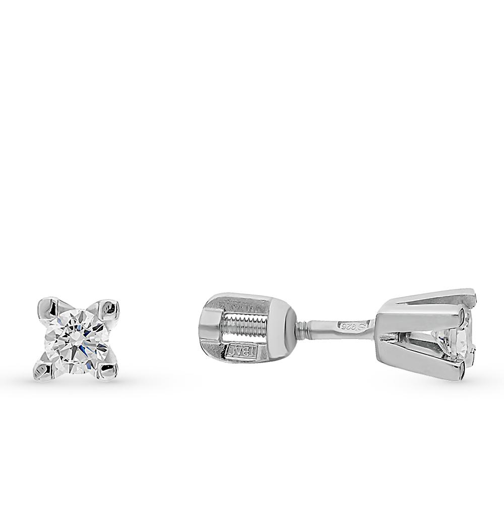 серебряные серьги с фианитами SOKOLOV 94021465