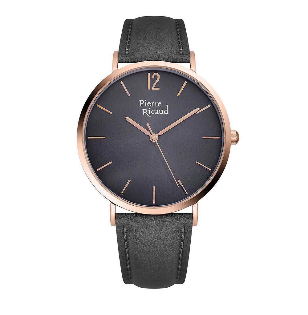 Фото «Мужские кварцевые часы P91078.9G57Q на кожаном ремешке с минеральным стеклом»