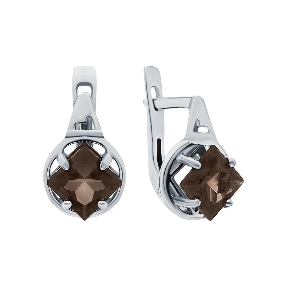 Фото «Серебряные серьги с раухтопазами»
