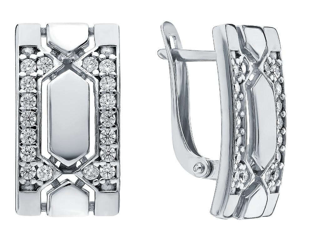 Фото «Серебряные серьги с нанокристаллами и фианитами»