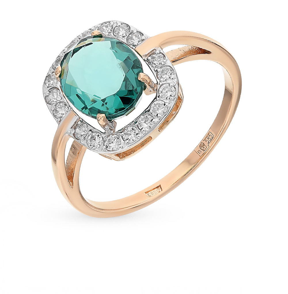 Фото «золото кольцо с фианитами и ситалами»