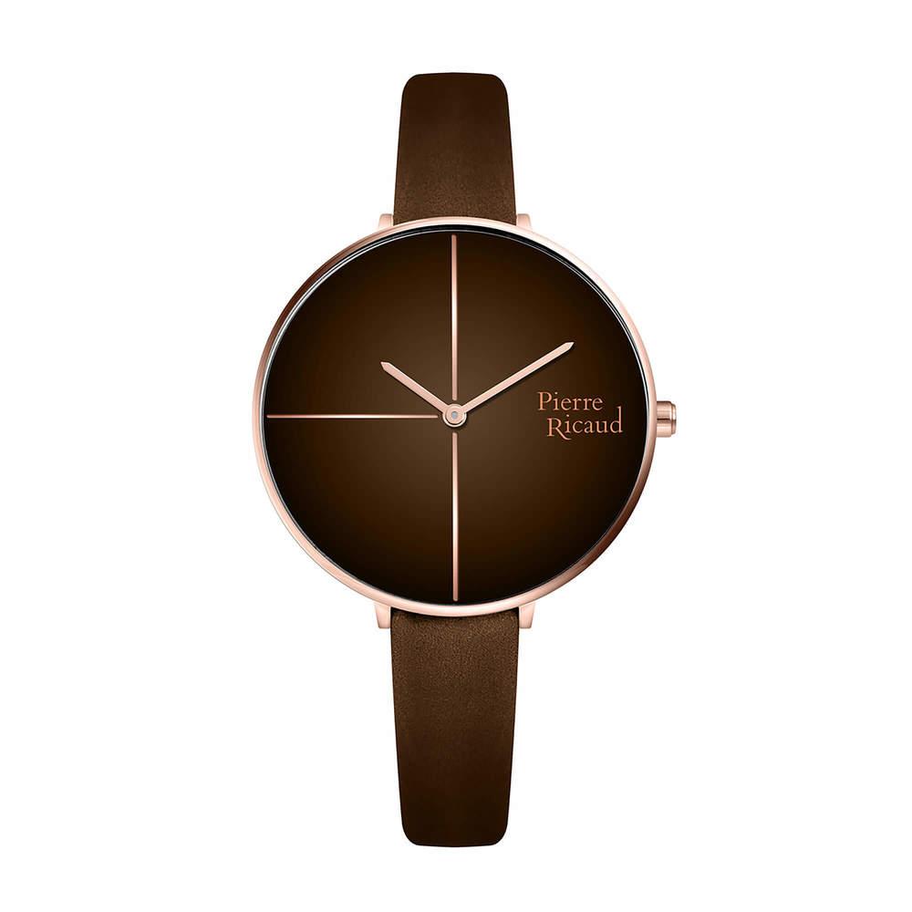 Фото «Женские кварцевые часы P22101.9BOGQ на кожаном ремешке с минеральным стеклом»